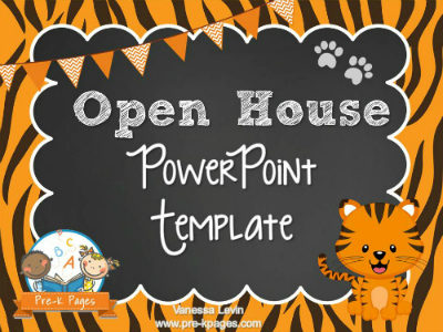 Tiger Open House PowerPoint - Pre-K Pages