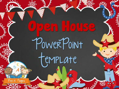 Western Theme Open House PowerPoint - Pre-K Pages