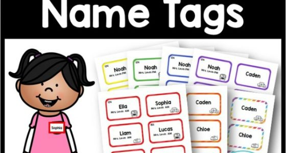 Editable Name Tags - Pre-K Pages