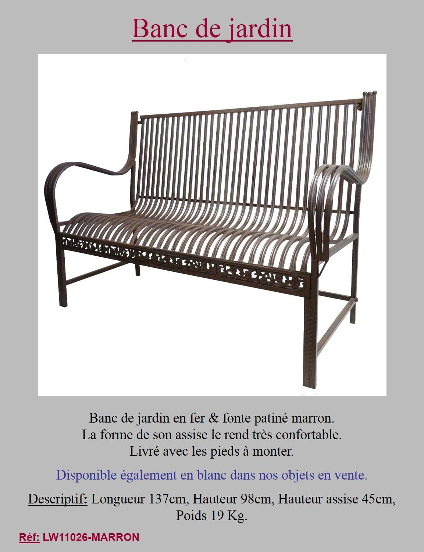 Mobilier Jardin Banc Fer | Style Ancien Banc Fauteuil Balancoire ...