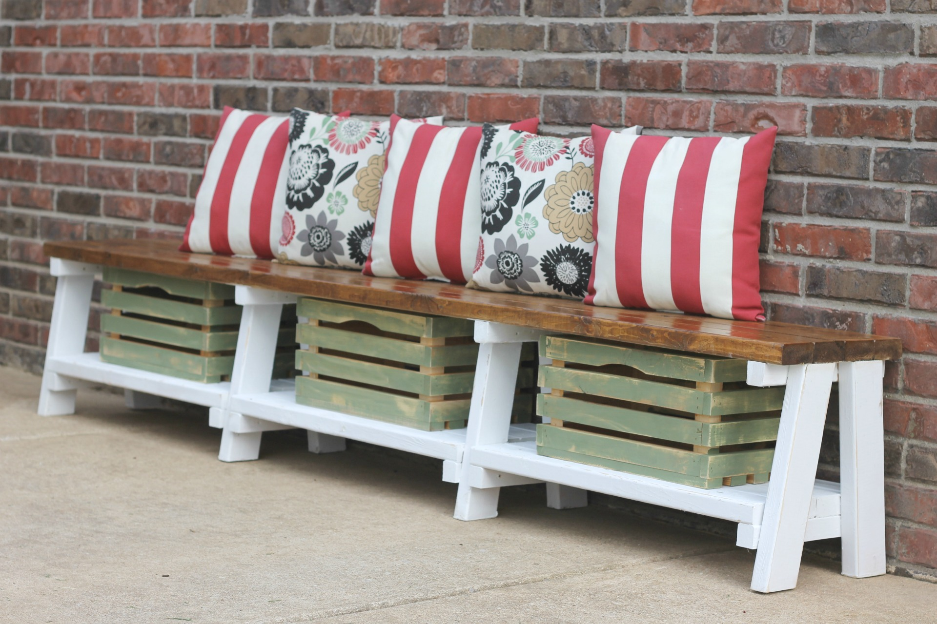 Seating With Storage Underneath Simple Diy Farmhouse Bench Tutorial With Storage