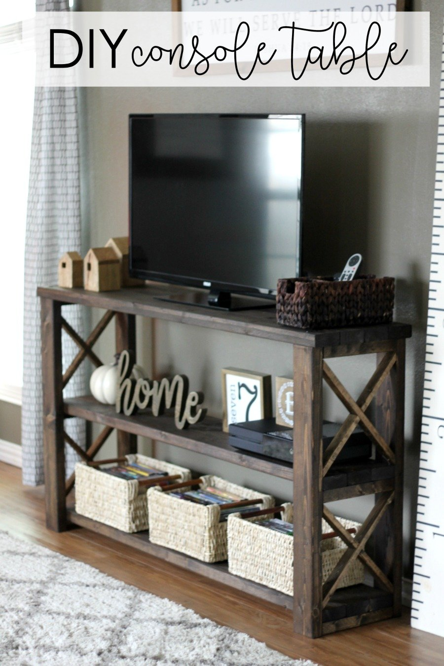 Console De Table How To Build A Diy Console Table For 50 Or Less