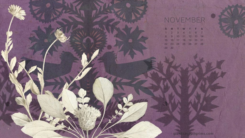 November Calendar Free Desktop and iPhone Wallpaper \u2013 Giants  Pilgrims
