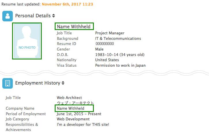 2018 Resume  Profile Changes - Jobs in Japan - CareerCross