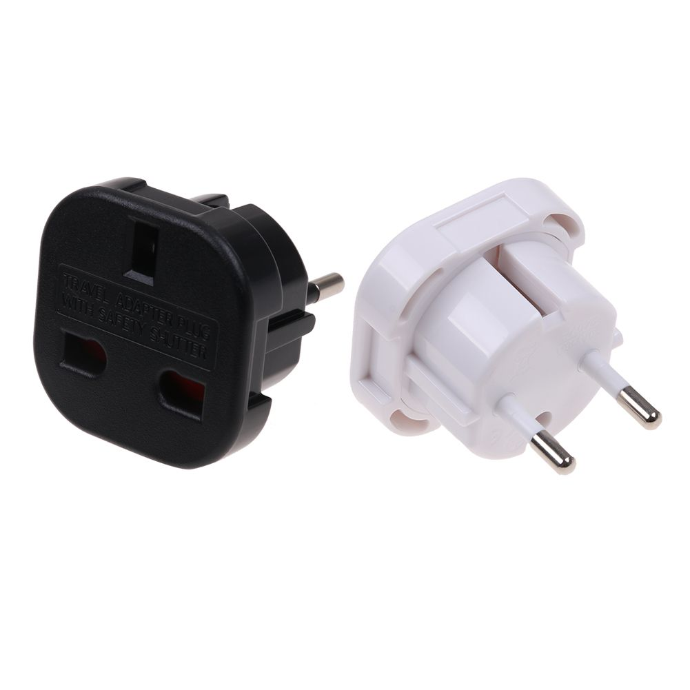 Travel Adapter Eu To Uk Details About Travel Adaptor Uk To Eu Pin Convert Power European Plug Converter Euro Charger