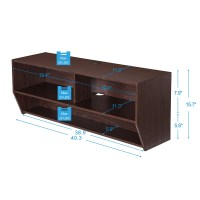 Wood TV Stand Wall Mount Media Entertainment Console ...
