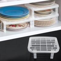 Foldable Plastic Dish Plate Drying Rack Organizer Storage ...