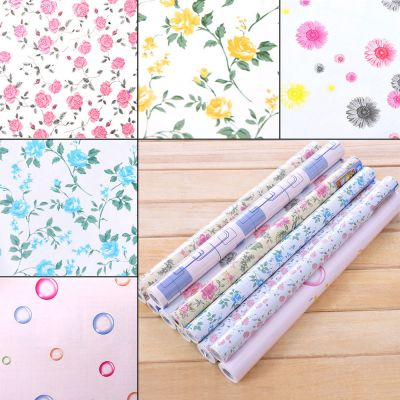 yazi Contact Paper Vinyl Self Adhesive Floral Wallpaper Drawer Liner Paper Roll | eBay