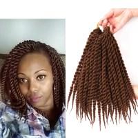 "Mambo Twist Crochet Braids Hair 12"" Synthetic Kanekalon ..."