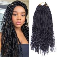 1Pcs Crochet Hairstyles Faux Locs Curly Ends Dreadlock ...