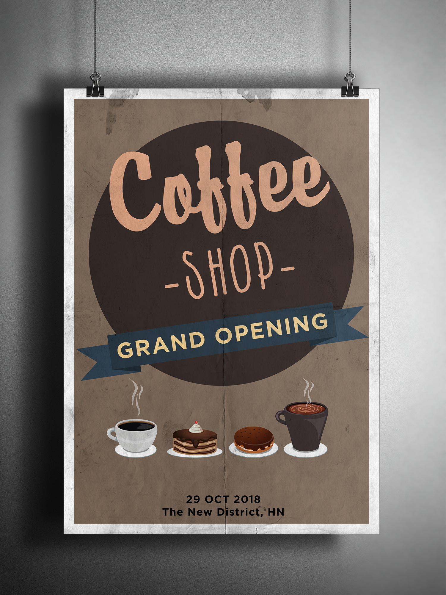 Kaffee Poster Coffee Grand Opening Poster Xcreative