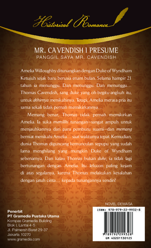 Mr Cavendish, I Presume - Panggil Saya Mr Cavendish Book by Julia - mr cavendish i presume