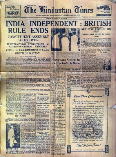 How Indian newspapers reported Independence and Partition ...