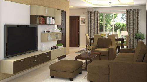 Medium Of Interior Design Of A Living Room