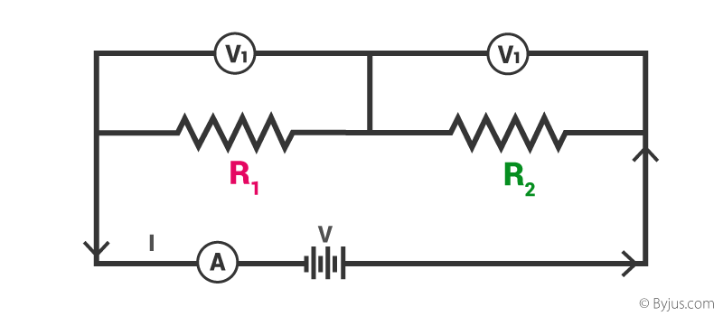 all of the current and voltage drops in the above parallel circuit if