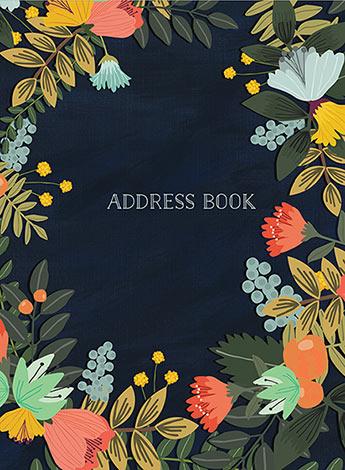 Address Book Modern Floral Large - Mia Charro - 9781631063787