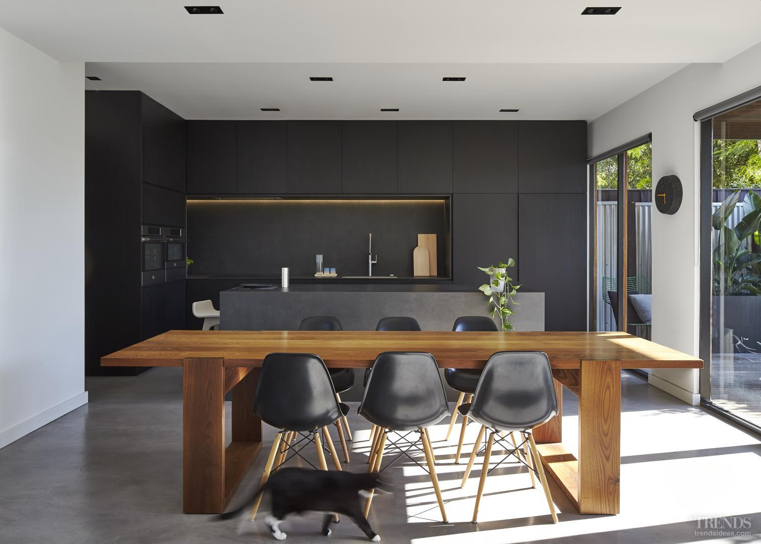 Floor Mirrors Melbourne Sleek Black Kitchen By Owner Architect With Black