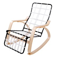 Artiss Fabric Rocking Armchair with Adjustable Footrest ...