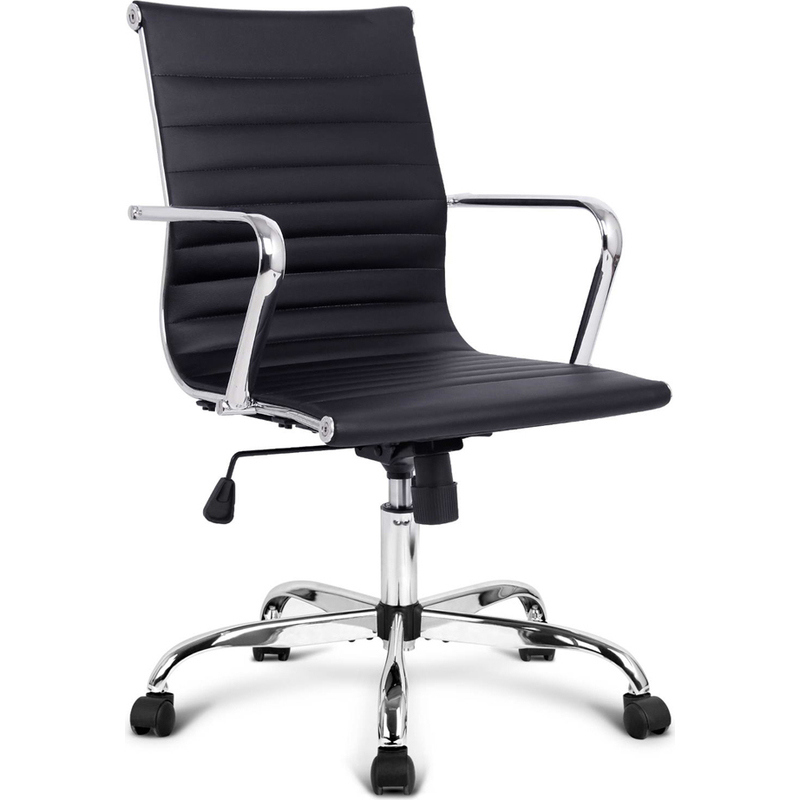 Chic Eames Replica Pu Leather Office Chair In Black Buy