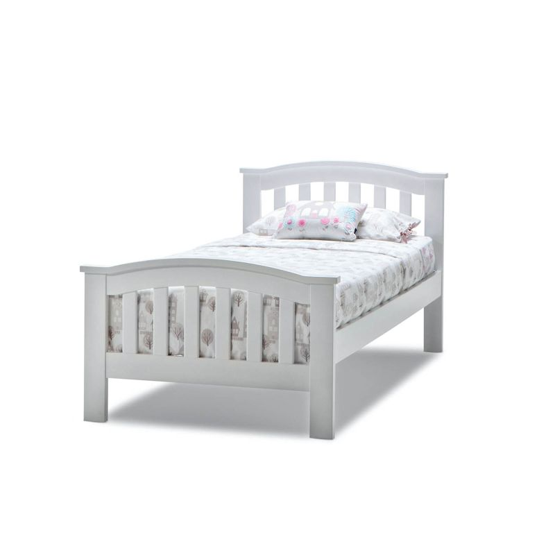 Leah Single Size Solid Timber Bed Frame In White Buy