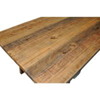 2.5m Industrial Dining Table + 12 Cross Back Chairs   Buy ...