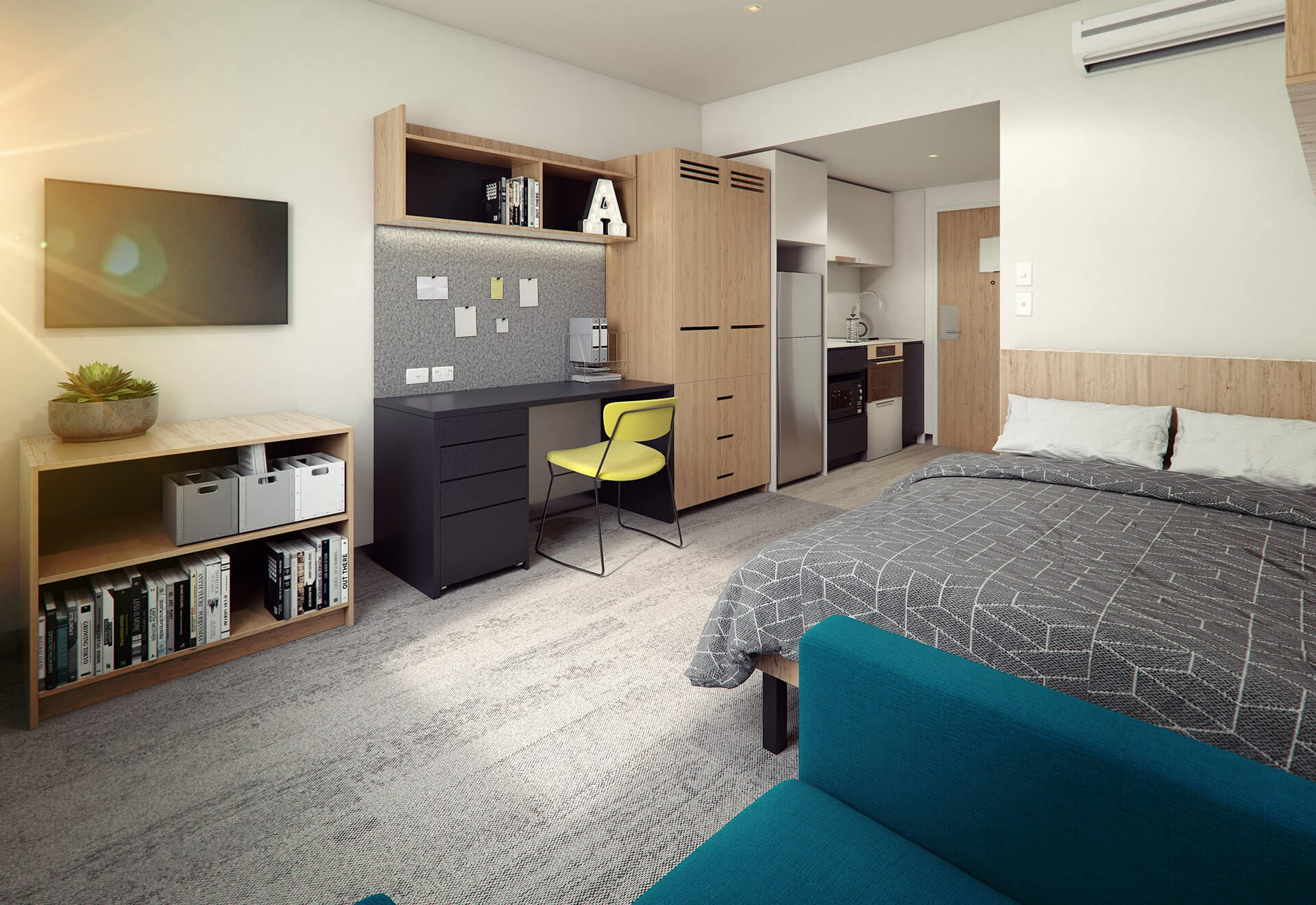 Studio Apartment Melbourne Swanston Street Student Accommodation Urbanest