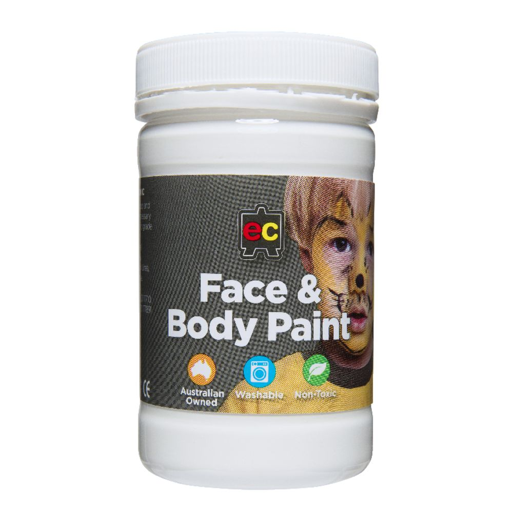Face Paint Supplies Adelaide Educational Colours Face Paint White 175 Ml Officeworks