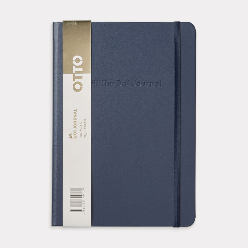 Office Supplies Caloundra Otto A5 Bullet Journal 240 Page Navy Blue