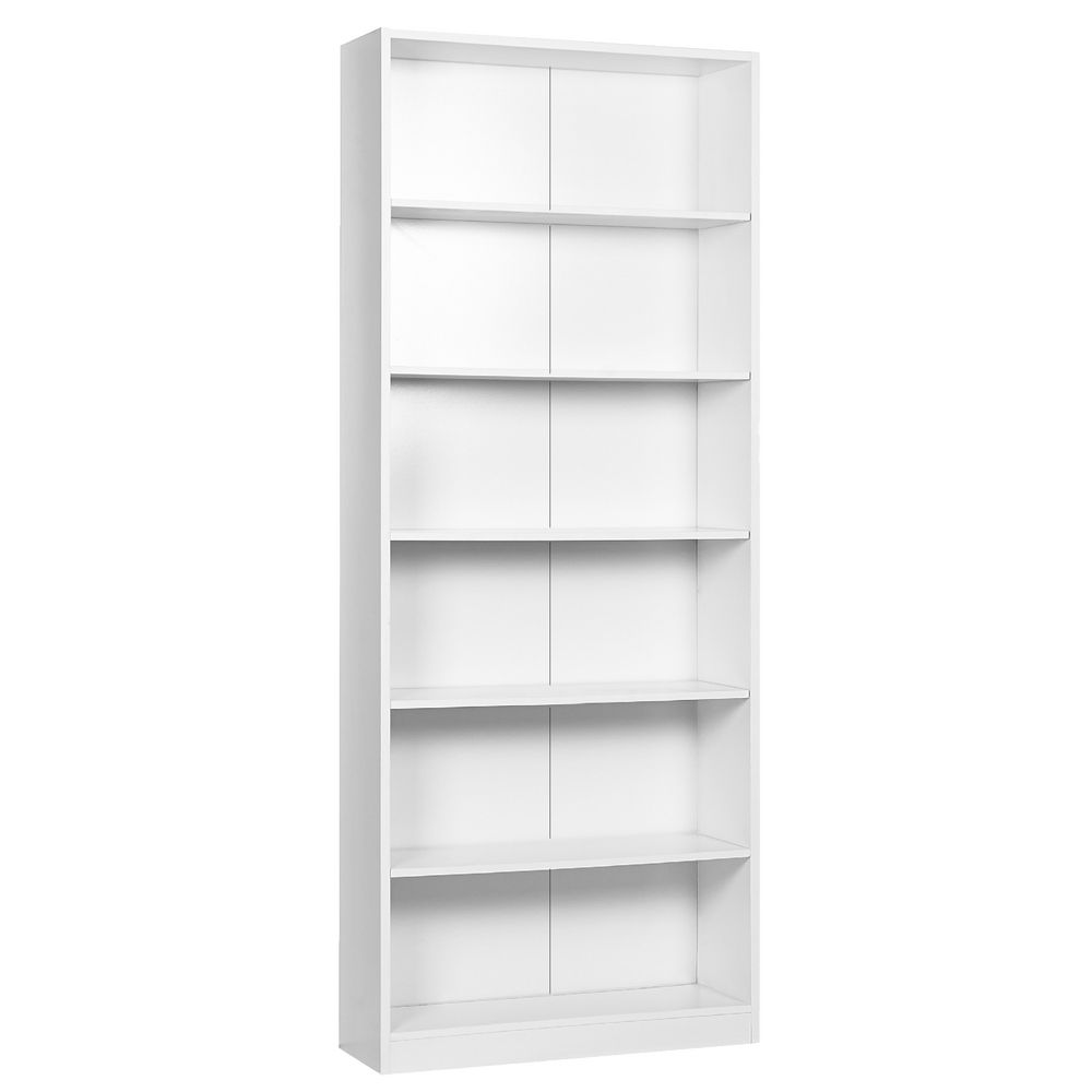Austin 6 Shelf Bookcase White