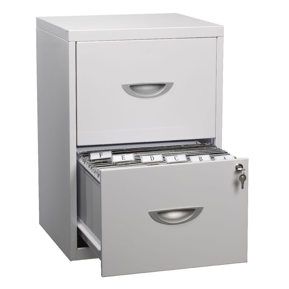 Soho 2 Drawer Filing Cabinet White