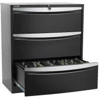 Stilford 3 Drawer Lateral Filing Cabinet Black
