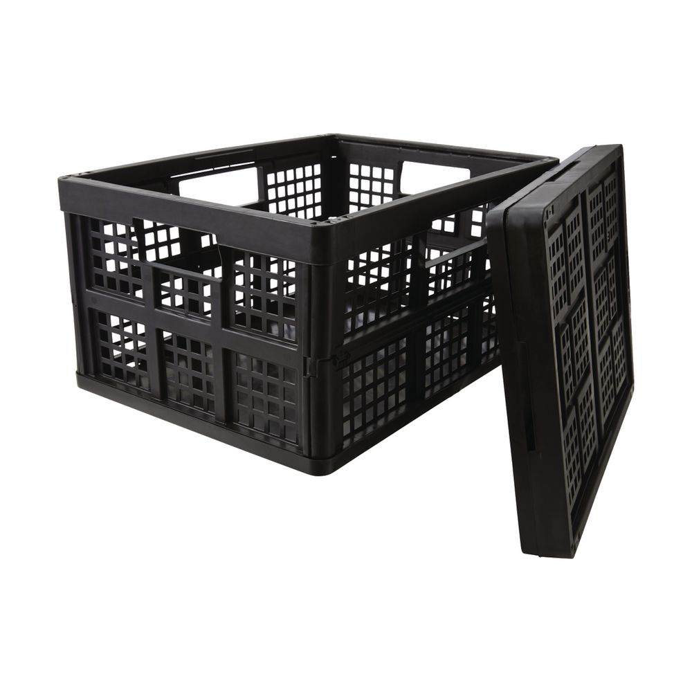 Milk Crate Canberra Really Useful 32l Folding Crate Black