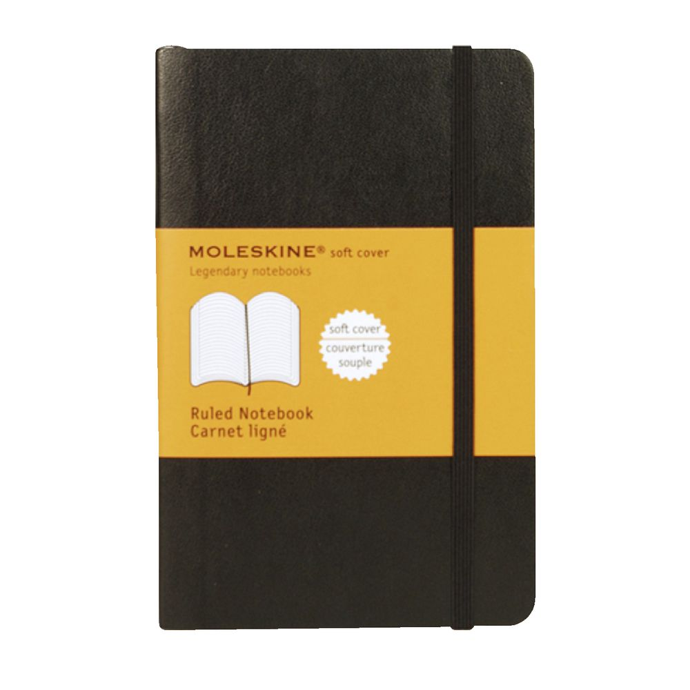 Moleskine A5 Moleskine Classic Soft Cover Pocket Notebook Ruled Black