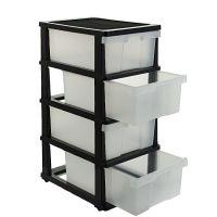 J.Burrows 4 Drawer Storage Cabinet Clear | eBay