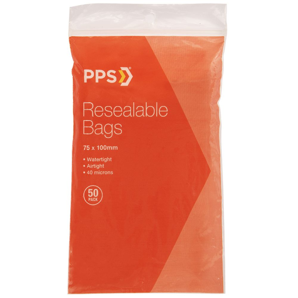 Ziplock Bags Australia Pps 75 X 100mm Resealable Bags 50 Pack