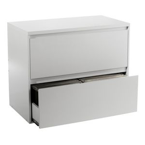 Mystique 2 Drawer Lateral Filing Cabinet White