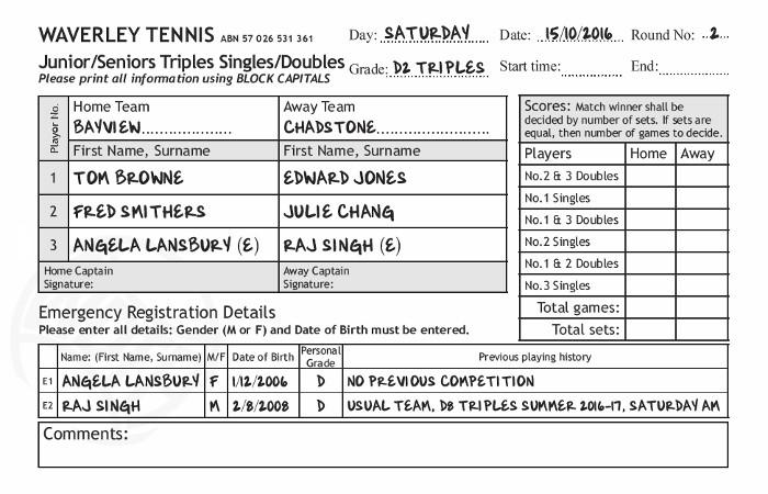 Sample Scoresheet - sample tennis score sheet template