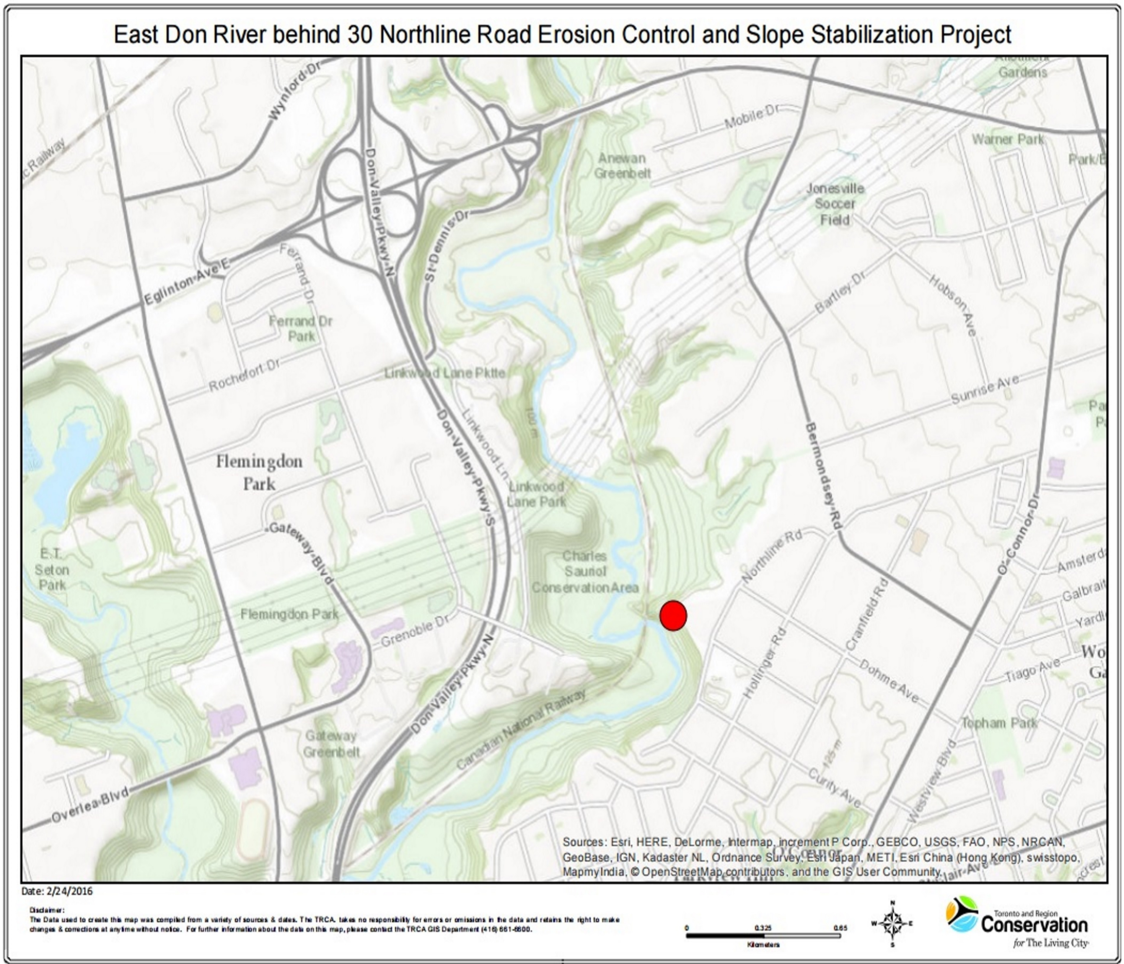 Grenoble Habitat Location East Don River Behind 30 Northline Road Erosion Control And Slope