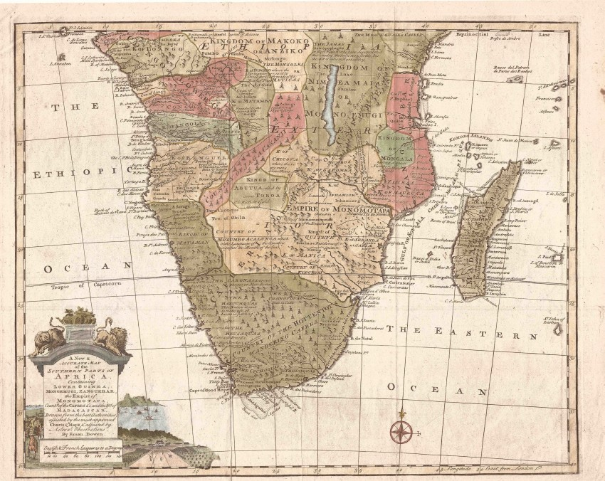A New And Accurate Map Of The Southern Parts Of Africa - Auction #60