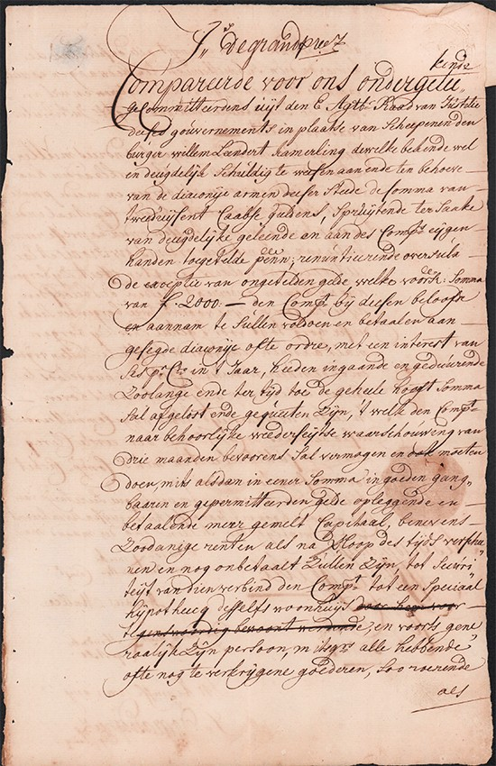 Commercial Loan Agreement Dated 1727 (signed By Hendrik