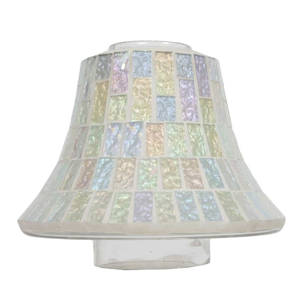 Glass Jar Lamp Shade Candle Jar Lamp Shade Ice White Lustre Mosaic