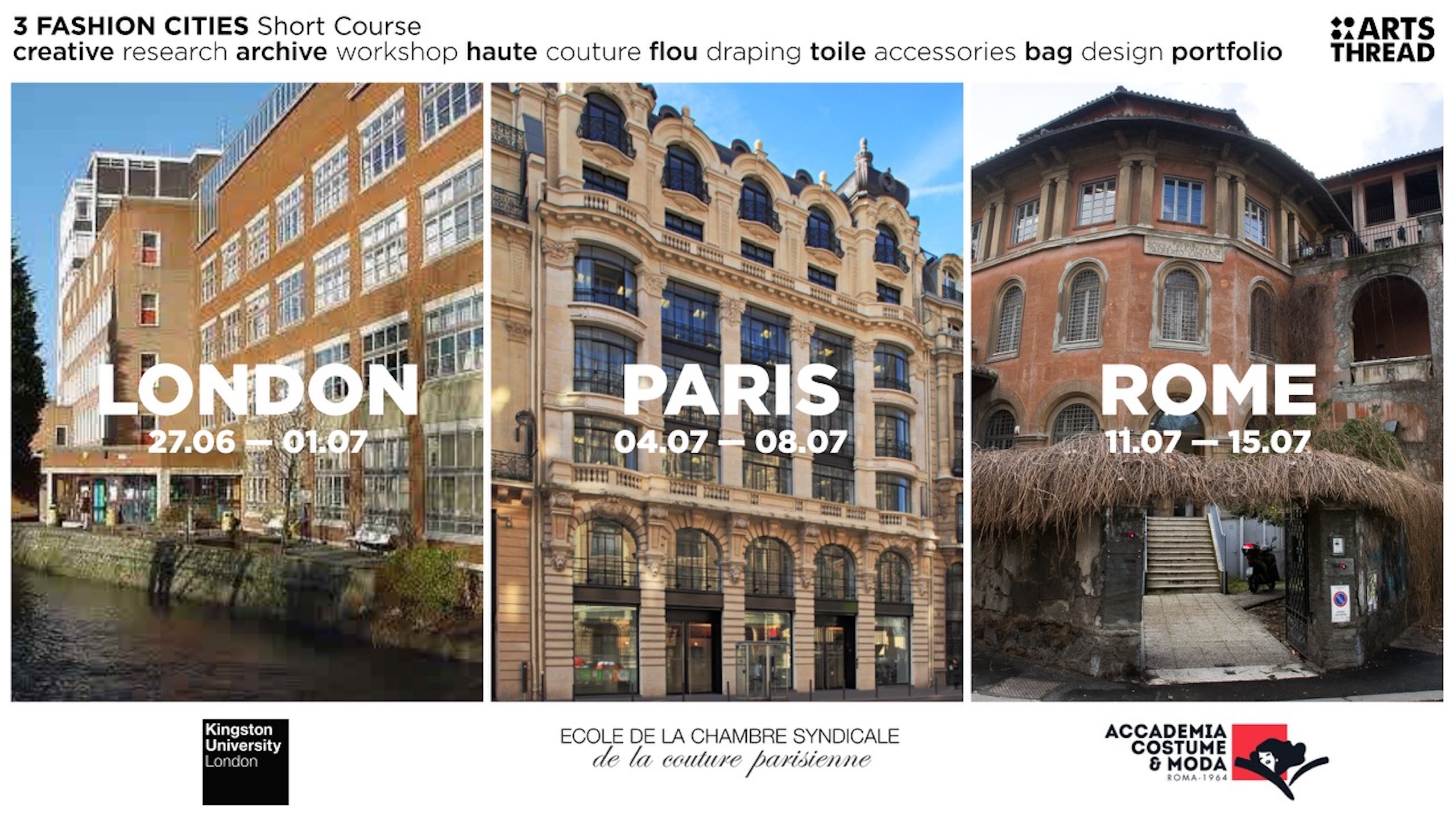 Ecole De La Chambre Syndicale Paris Arts Thread 3 Fashion Cities Short Course Call Out Arts Thread