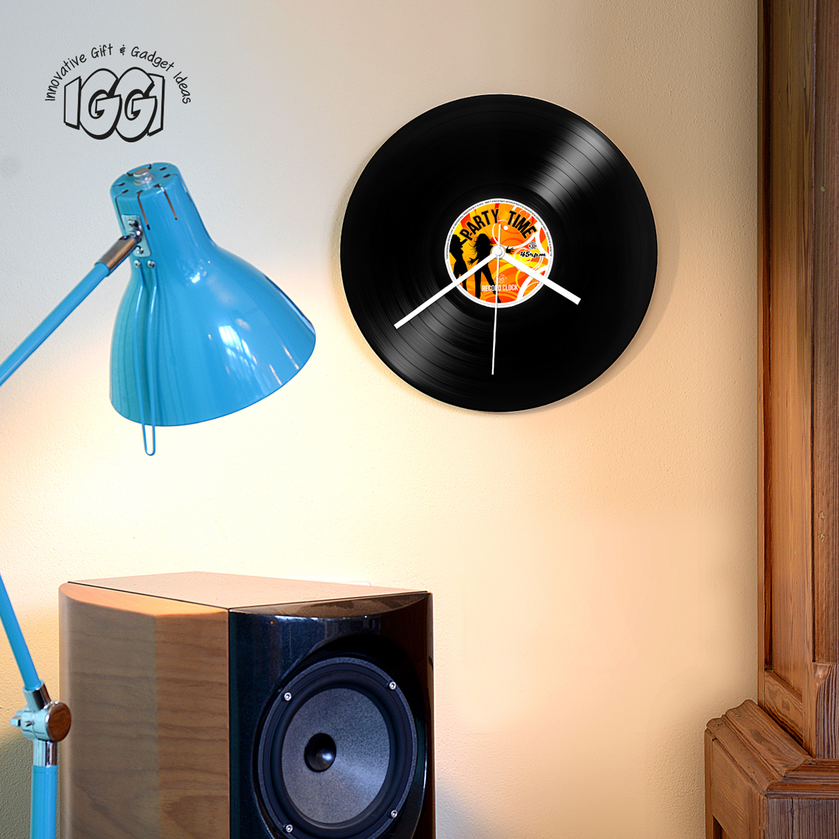 Schallplatte Maße Wanduhr Vinyl Schallplatte Party Time Retro Record Clock