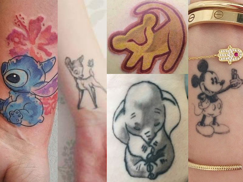 Tatuaggi disney tattoo piccoli o colorati per bambine