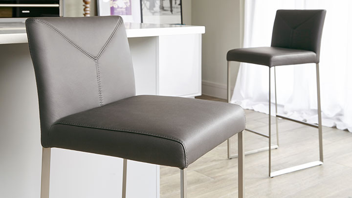 Real Leather Bar Stool Uk Delivery Fixed Height Stool