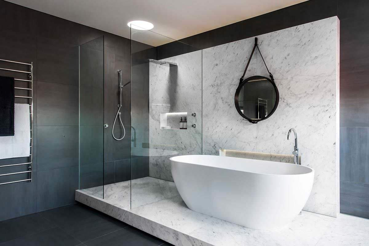Badezimmer Luxus Minimalist Luxury Bathroom By Minosa Design