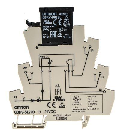 G3RV-SL700-D 24VDC Omron Omron 3 A SPST Solid State Relay, DIN