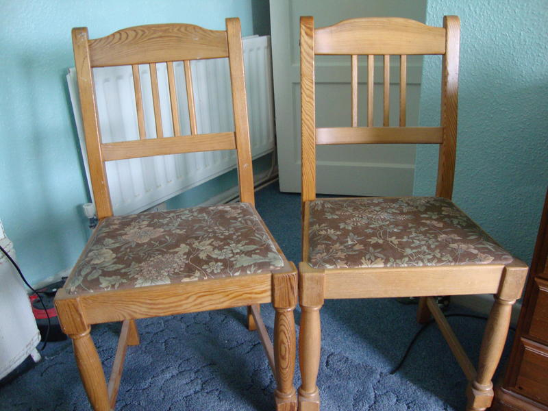Two Pine Dining Room Chairs In Andover Friday Ad