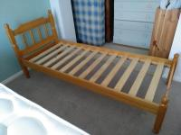"Space saving 2'6"" pine bed frame. in Worthing 