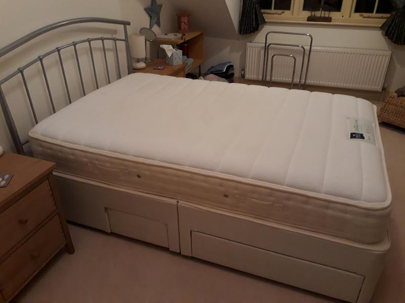 Double Storage Divan Rest Assured Bed 4 Ft With Headboard